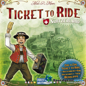 Ticket to Ride: Switzerland Expansion board game