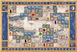 Tigris and Euphrates game board